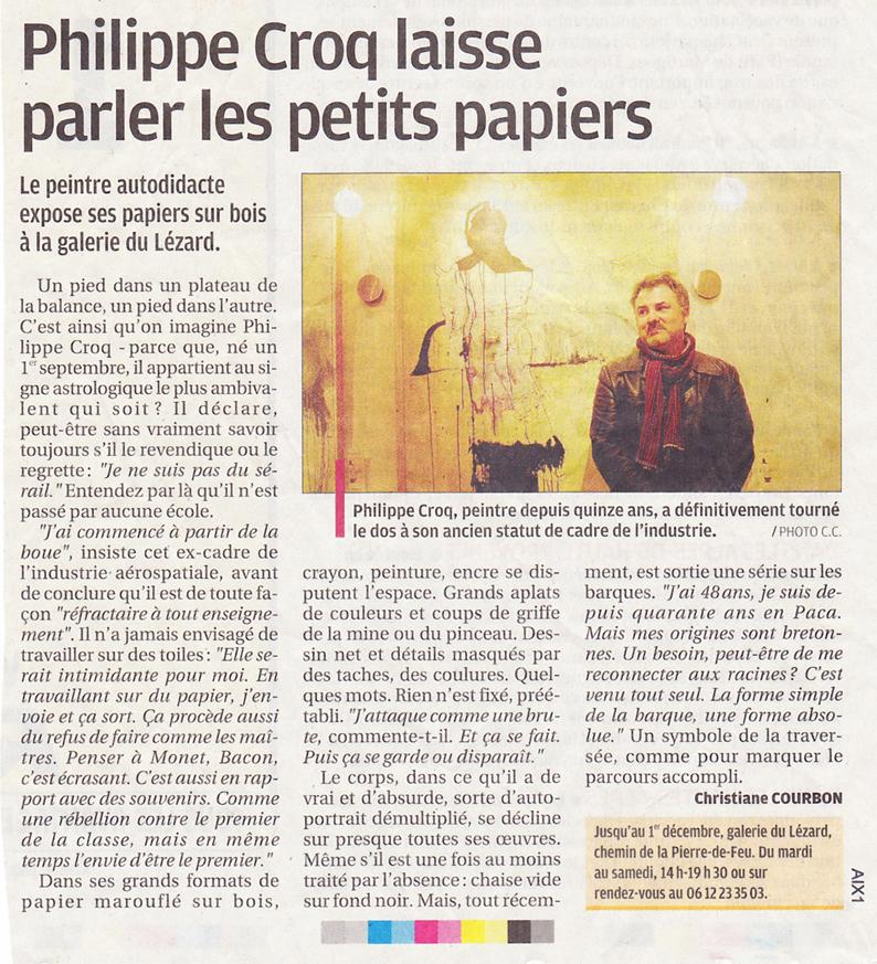 2009 novembre Philippe Croq