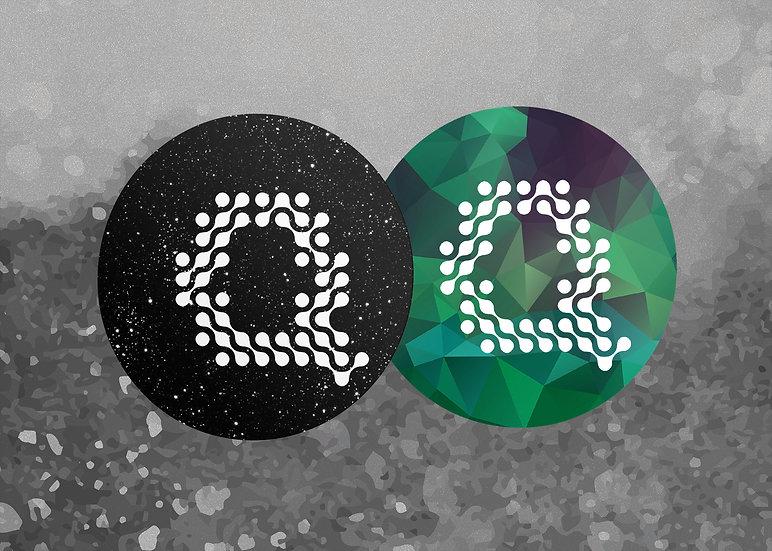 Black + Green Quilly - عرض القطعتين