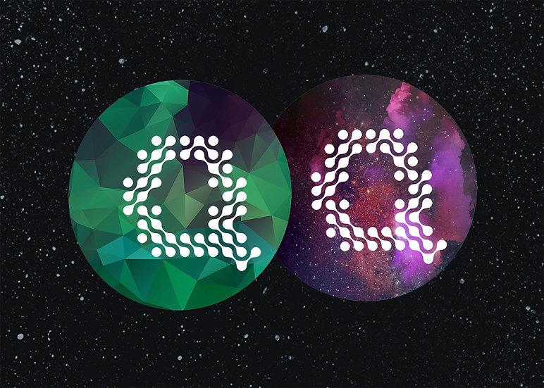 Green + Purple Quilly - عرض القطعتين