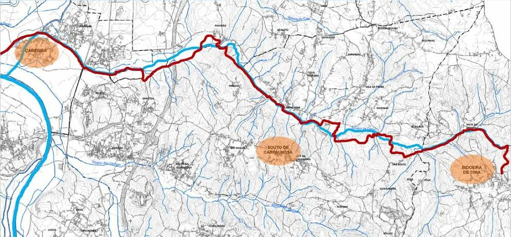 Percurso Rota da Ribeira das Carpalhosas   ARC Valpedrense