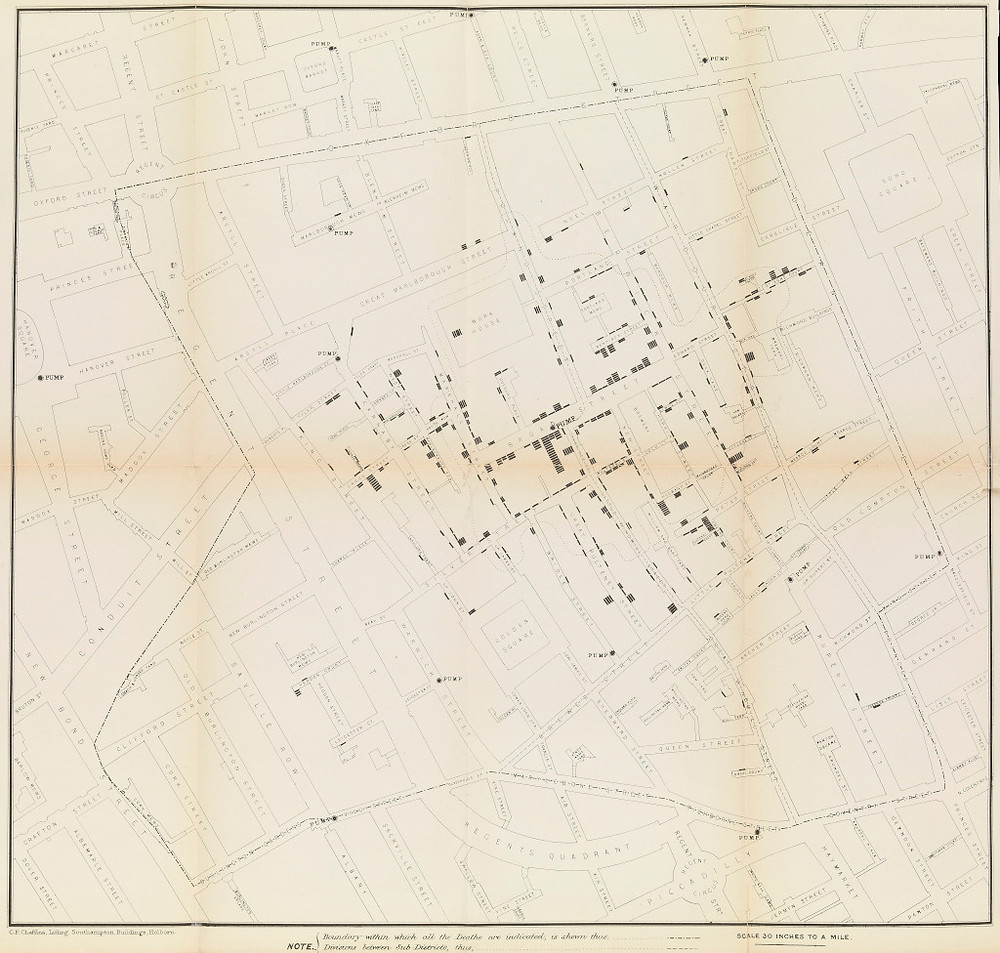 CholeraMap_JohnSnow_1854_Repport