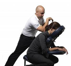 Massage en entreprise, massage sur chaise