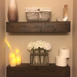 Rustic Floating Shelf Gray/Brown Finish