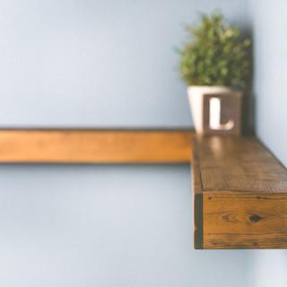 Rustic Corner Shelf Special Walnut
