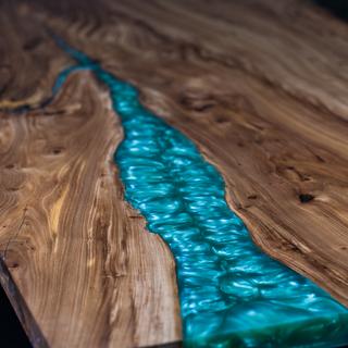 Wood x Epoxy Dining Table