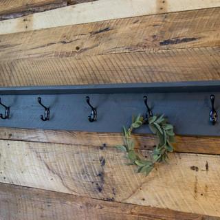 Coat Rack w/ Shelf Weathered Gray