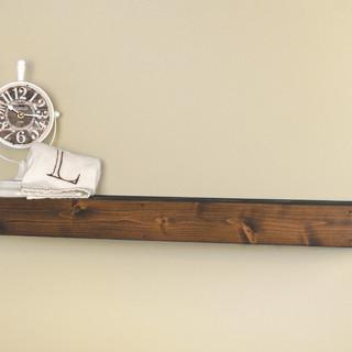 Rustic Floating Shelf Dark Walnut