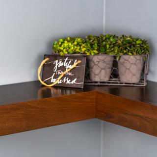 Modern Floating Corner Shelves