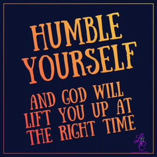 Humble Yourself...