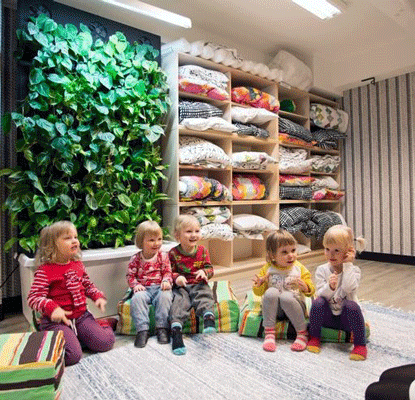 Bring Biophilia into Learning Spaces with Living Green Walls