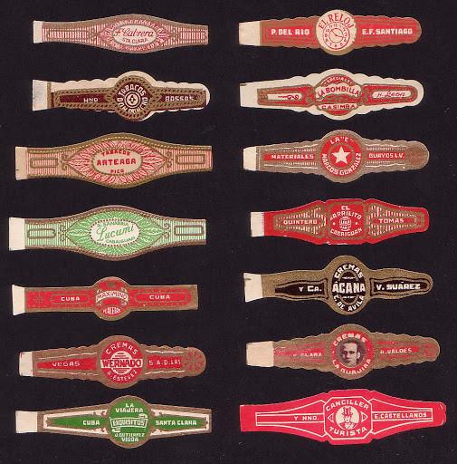 Colección de anillas de habanos antiguas