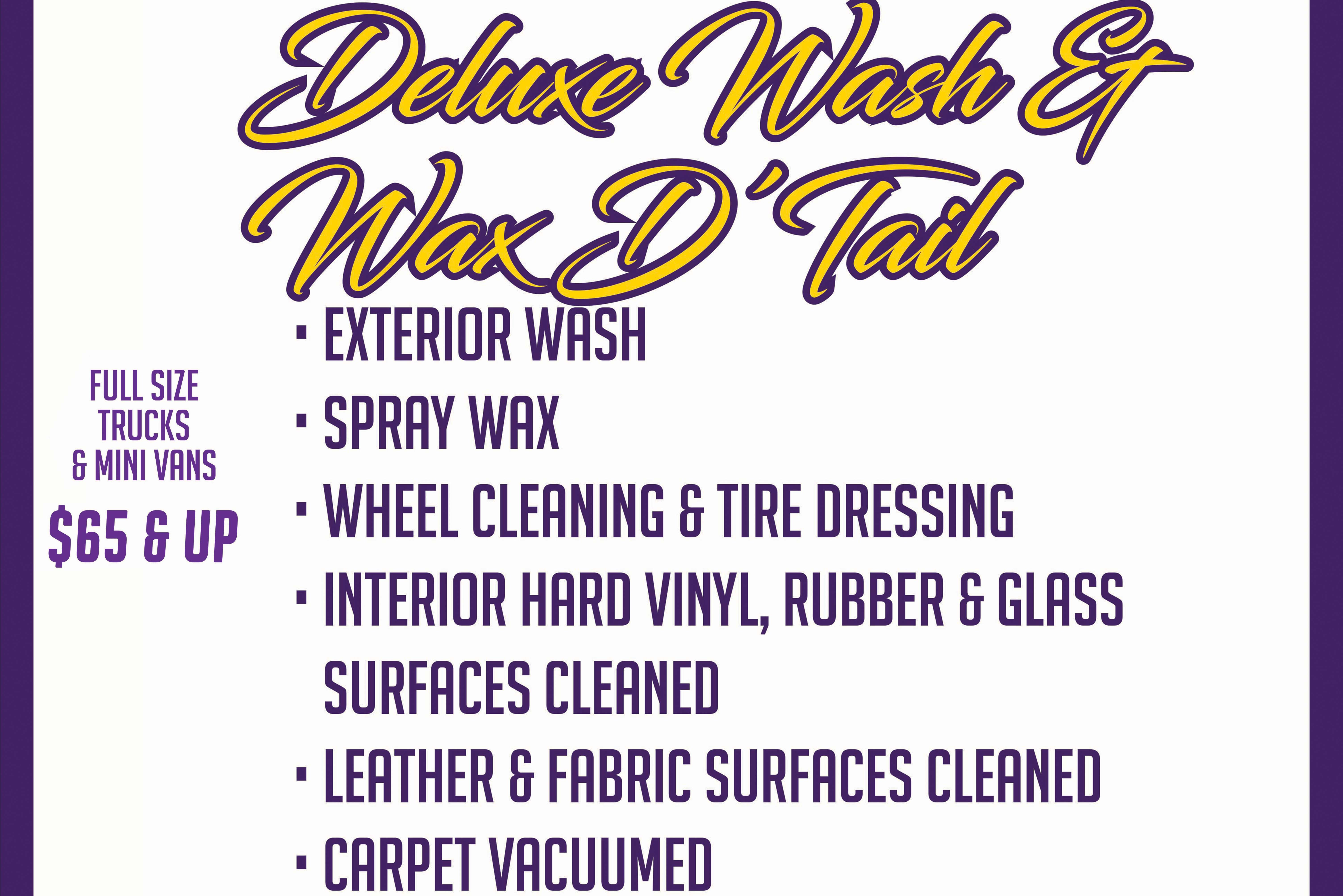 (FULL)Deluxe Wash & Wax D'Tail