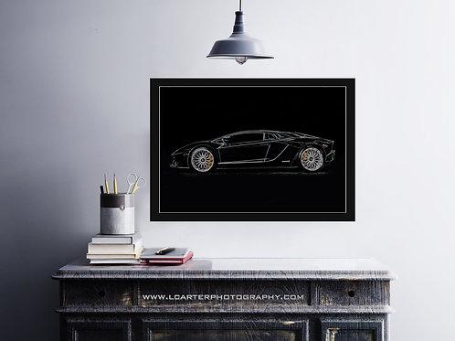 Custom 2017 Lamborghini Aventador S Wallart