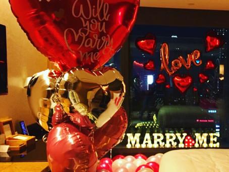 客人特別要求大型紅心💗告白氣球🎈比至愛的女主角, 睇下大家又見唔見到係咩告白Message🗯#求婚大作戰 #求婚策劃#求婚佈置 #hotelicon