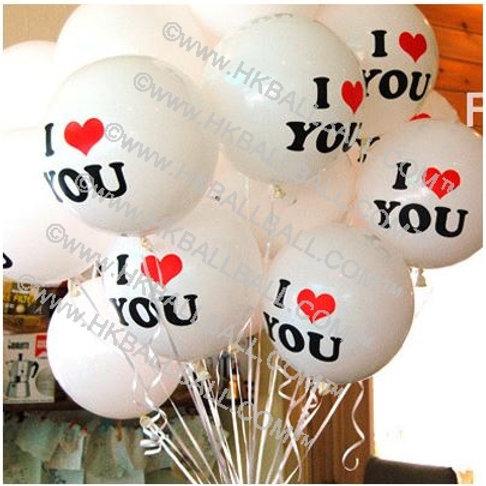 "12"" I LOVE YOU 印花"