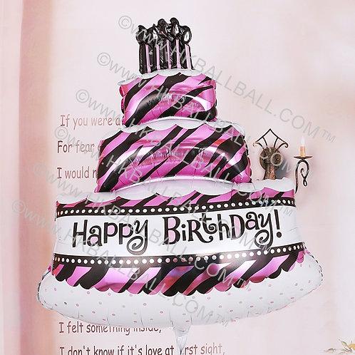 粉紅斜紋蛋糕