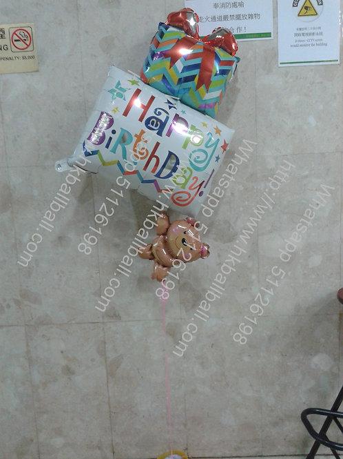 小熊熱氣球