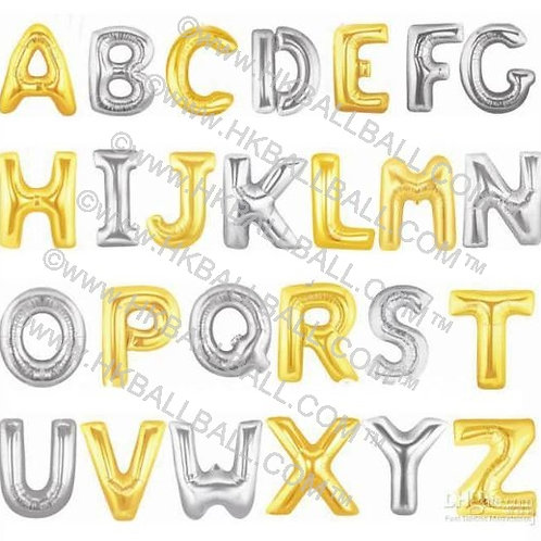 """40"""" Gold/Silver Letter 金/銀色字母 A-Z"""