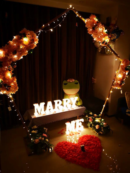 MARRY ME 字母燈