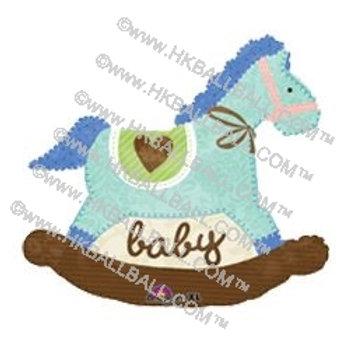 粉藍木馬 Baby Blue