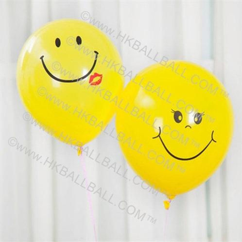 """12"""" 笑臉乳膠氣球"""