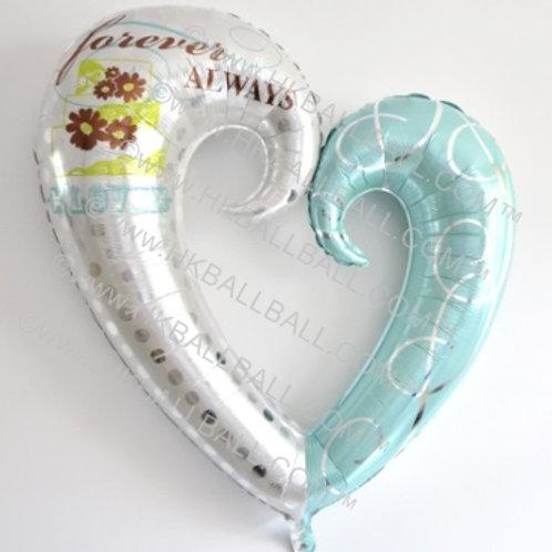 爱心環氣球