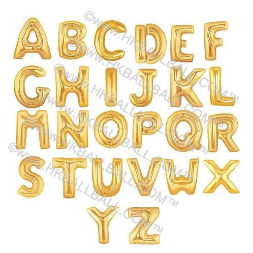 "14"" Gold/Silver Letter 金/銀色字母 A-Z"