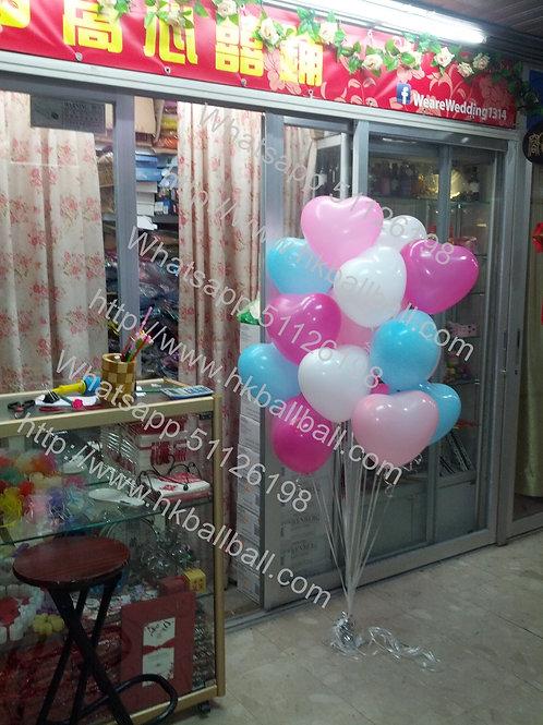 """12"""" 心形乳膠氣球"""