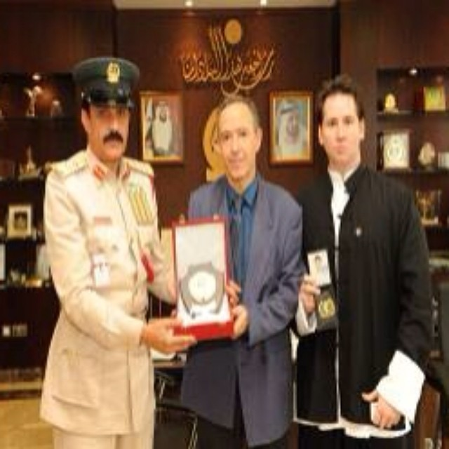 Dubai Police Commander In Chief, Spanish Police Officer and Master John Duval