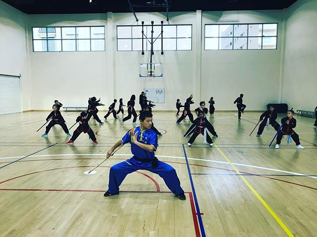 Students training hard with Golden Eagle Martial Arts Dubai