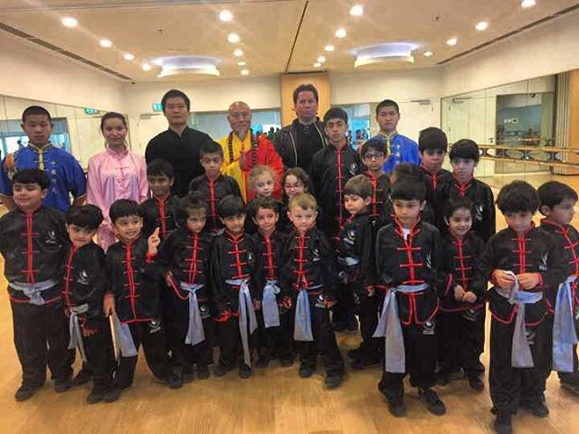 Surprise visit from our Grand Master Yan for our students at Al Jalila Cultural Centre for Children