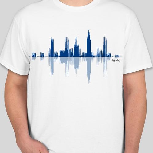 Men's White T-shirt - Blue Logo