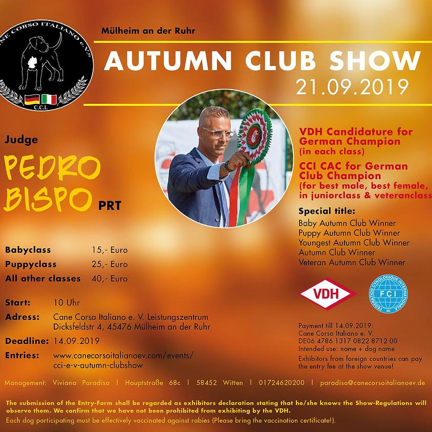 CCI e.V. Autumn Clubshow