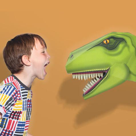 the crafty creative dinosuar head CLOCKWORK SOLDIER