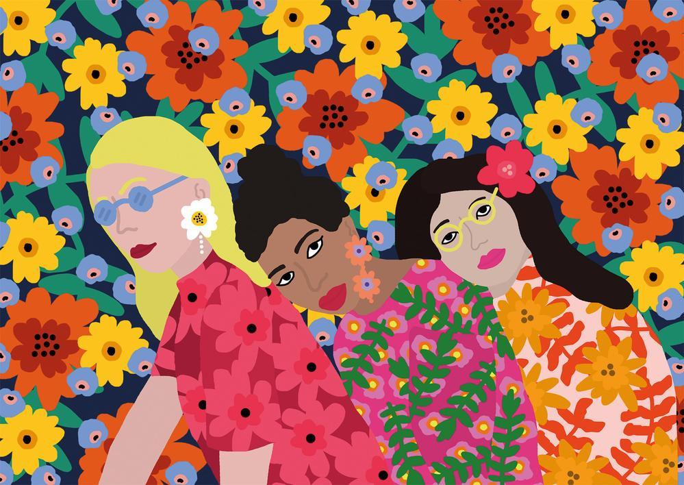 The crafty creative - Three Women Jigsaw