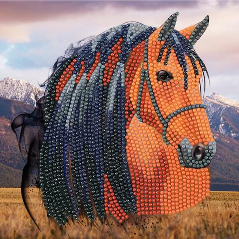 the crafty creative horse crystal art craft buddy