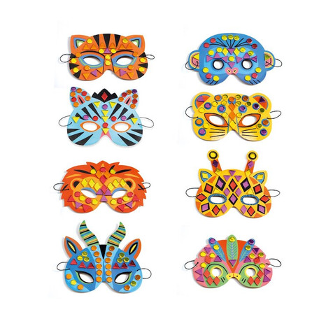 the crafty creative mosaic masks DJECO