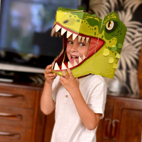 the crafty creative dinosaur head FIESTA CRAFTS