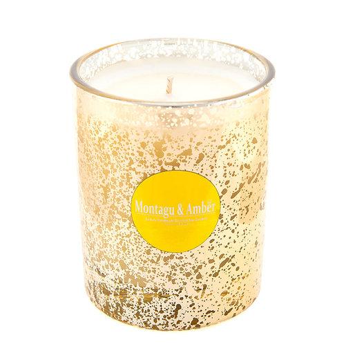 Large Metallic Glass Candle
