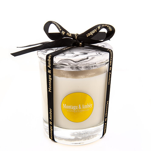 Karen Glass Candle with Marble Lid
