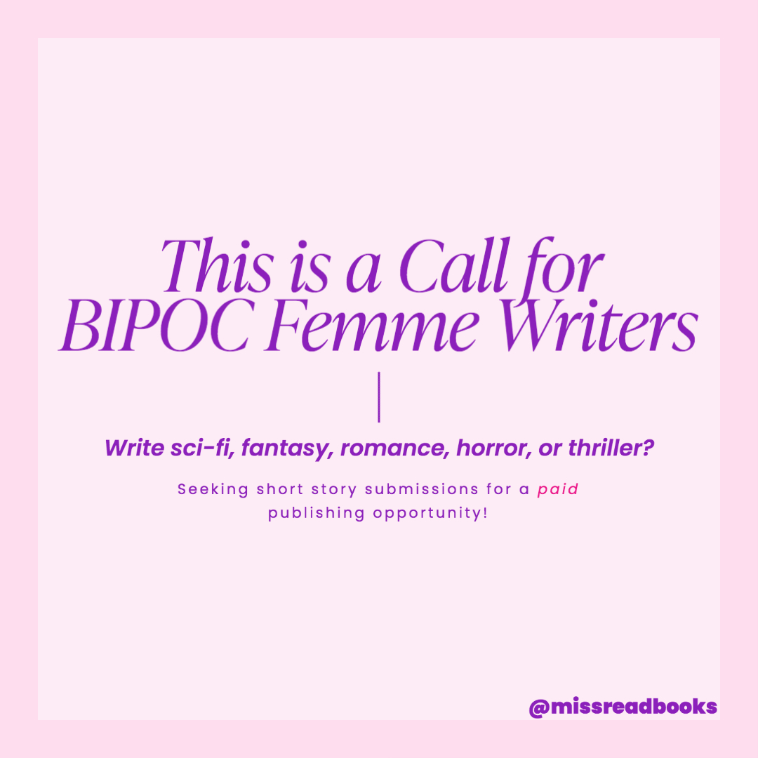 BIPOC Writers Opportunity For Publishing | Short Stories in Genre Fiction
