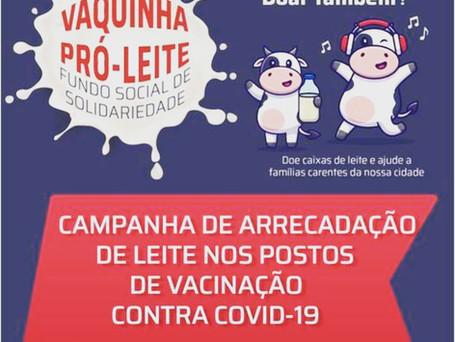 Campanha do Fundo Social de Solidariedade Vaquinha Pró-Leite