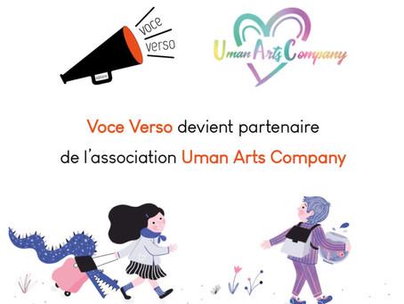 Voce Verso devient partenaire de l'association Uman Arts Company