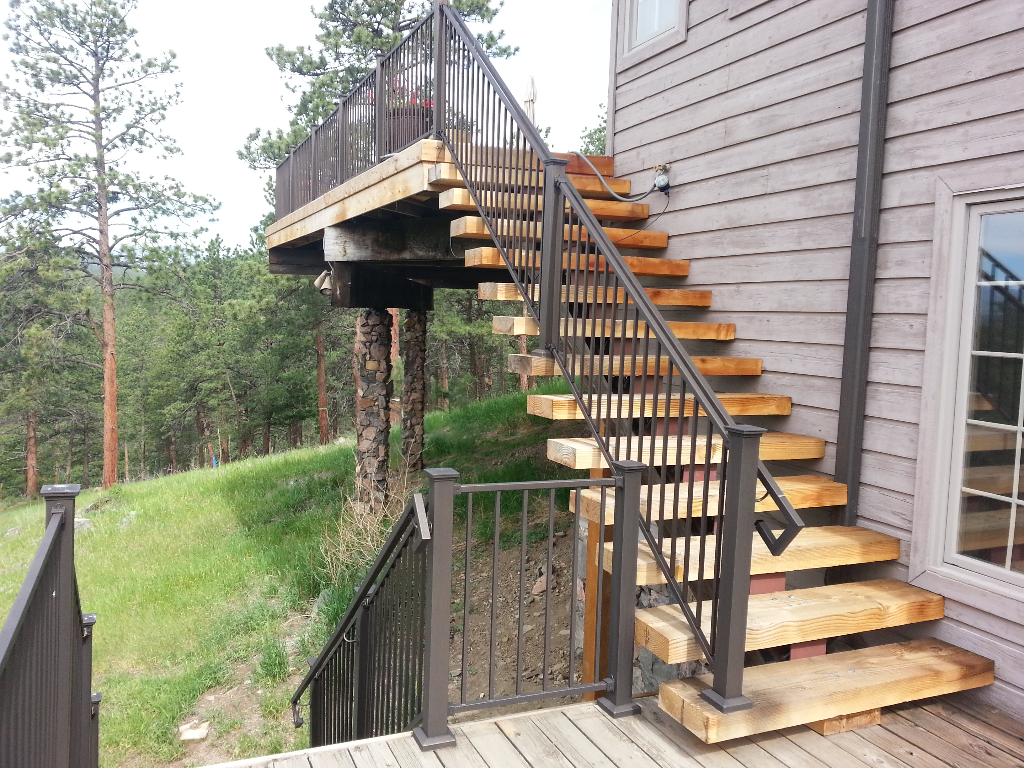 Custom Deck, Railings and Columns