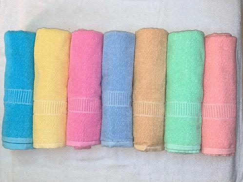 cotton towels fresh colour. size 30cm*60cm