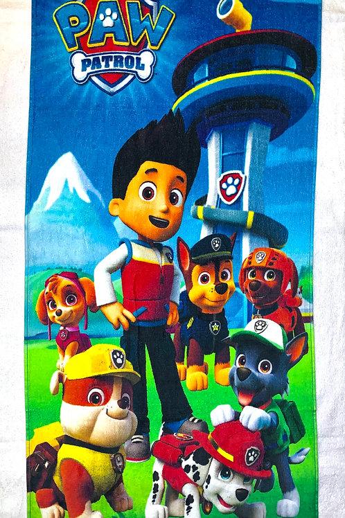 cartoon printed fresh colour kids towel. 24 inch x 47 inch