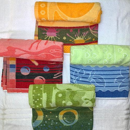 100% cotton towels fresh colour. size 30cm*60cm