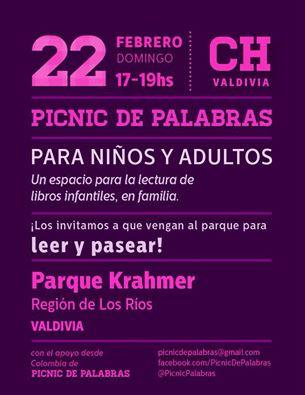Los invitamos a todos al Picnic de Palabras del mes de febrero, este domingo 22, en el parque Khrame