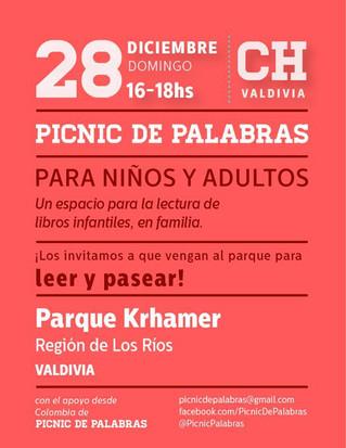 Tercer Picnic de Palabras en el Parque Khramer este domingo 28 de diciembre