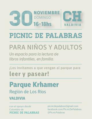 Segundo Picnic de Palabras este domingo 30 de noviembre en Valdivia